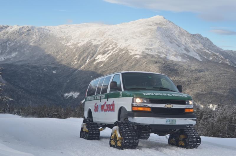 Mt Washington Auto Road >> First Snowcoach Of Winter 2013 Makes Its Way Up The Mt Washington